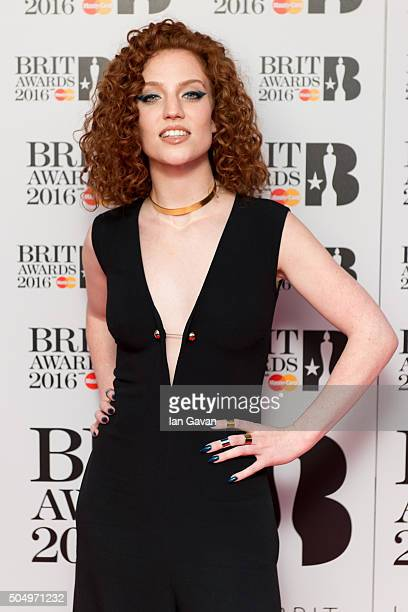 Jess Glynn attends the nominations launch for The Brit Awards 2016 at ITV Studios on January 14 2016 in London England