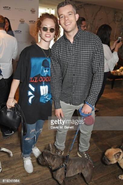 Jess Glynne and Russell Tovey attend the launch of Rosewood's Canine Luxury Experience hosted by Rosewood London and Barbour at Rosewood London on...