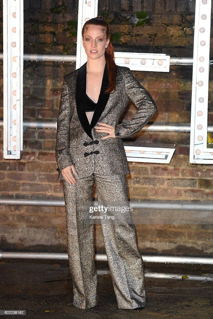 Jess Glynne arrives for the Stella McCartney Resort collection and menswear launch at Abbey Road Studios on November 10, 2016 in London, England.