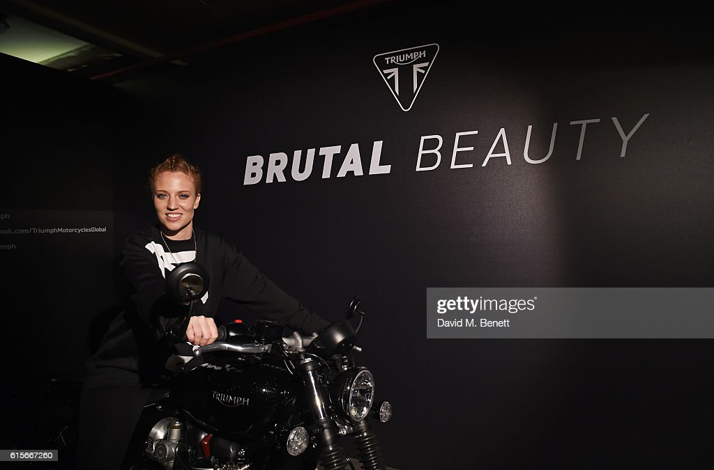 Jess Glynne attends the Global VIP Reveal of the new Triumph Bonneville Bobber on October 19, 2016 in London, England.