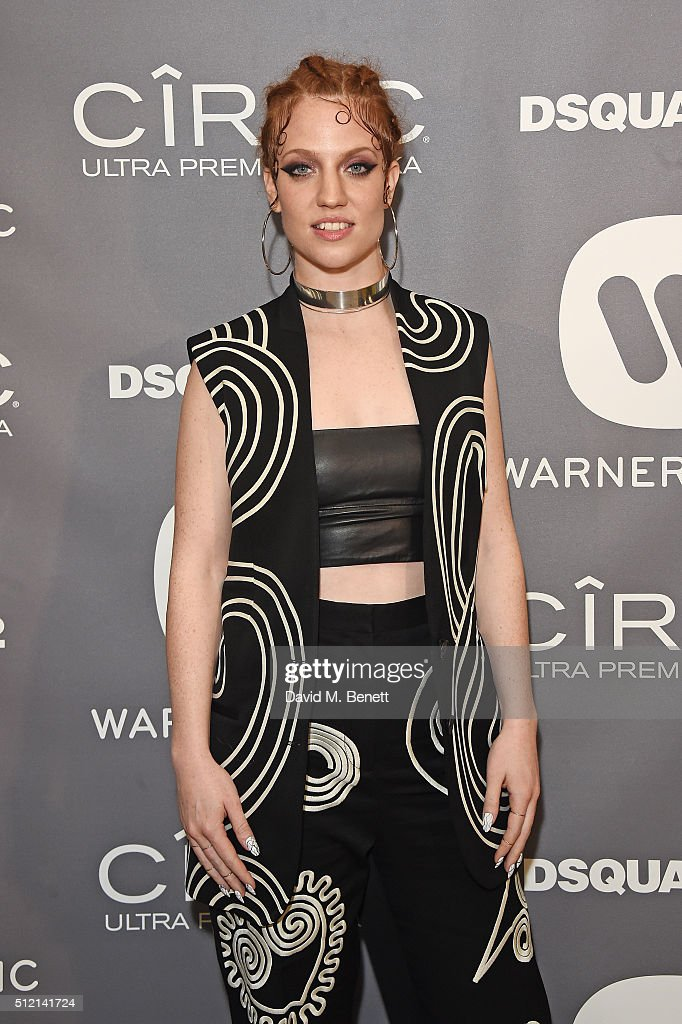 Jess Glynne attends the Warner Music Group & Ciroc Vodka Brit Awards after party at Freemasons Hall on February 24, 2016 in London, England.