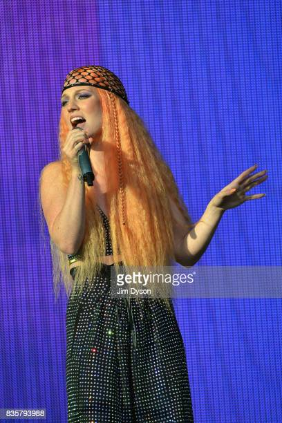 Jess Glynne performs live on stage during V Festival 2017 at Hylands Park on August 19 2017 in Chelmsford England