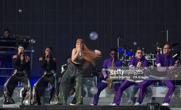 Jess Glynne performs on the Supervene Stage at the V Festival in Hylands Park Chelmsford