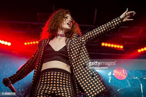 Jess Glynne performs onstage at Mandela Hall on April 1 2016 in Belfast Northern Ireland