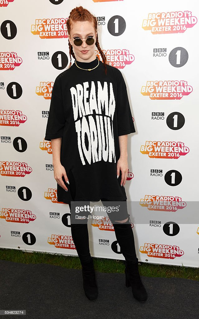<a gi-track='captionPersonalityLinkClicked' href=/galleries/search?phrase=Jess+Glynne&family=editorial&specificpeople=12882231 ng-click='$event.stopPropagation()'>Jess Glynne</a> poses for photos during day 1 of BBC Radio 1's Big Weekend at Powderham Castle on May 28, 2016 in Exeter, England.