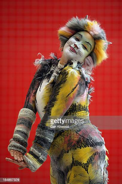 Jess Hodges 29 from Robertsbridge poses as a character from the musical 'Cats' ahead of the MCM London Comic Con Expo at ExCel on October 26 2012 in...
