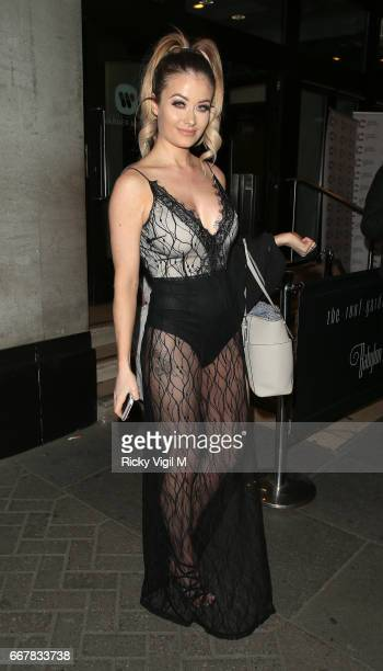 Jess Impazzi attends James Ingham's JogOn to Cancer part 5 at Kensington Roof Gardens on April 12 2017 in London England