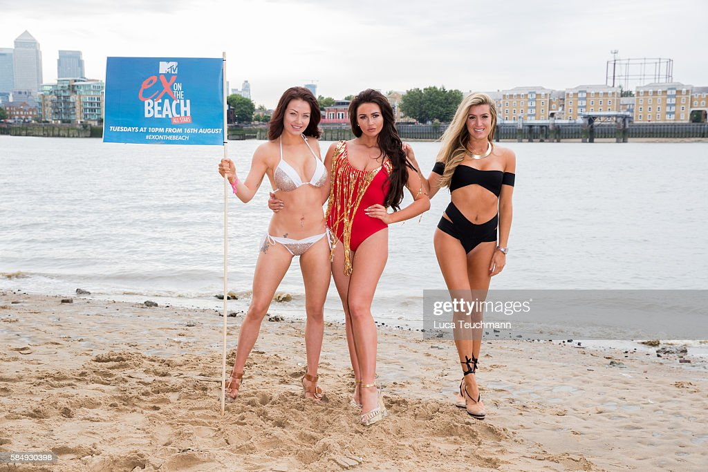Jess Impiazzi Charlotte Dawson and Lillie Lexie Gregg attend the cast of 'Ex on The Beach' promote the series starting 16th August on August 1 2016...