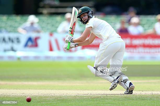 Jess Jonassen of Australia bats during day four of the Kia Women's Test of the Women's Ashes Series between England and Australia Women at The...