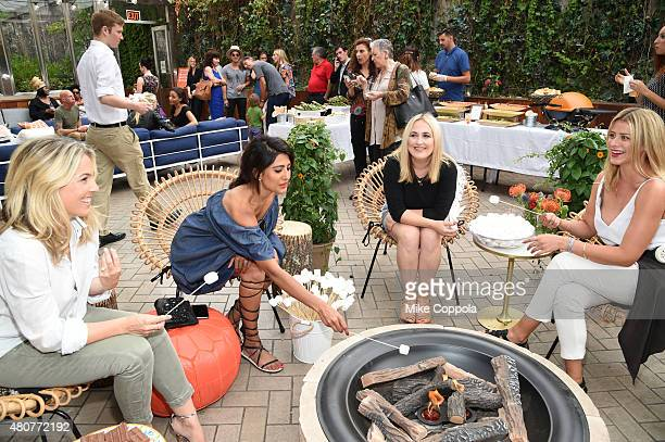 Jess Levin Azeeza Khan Jilly Hendrix and Lo Bosworth participate in outdoor refresher courses at the It's Officially Summer event with OFF and Guest...