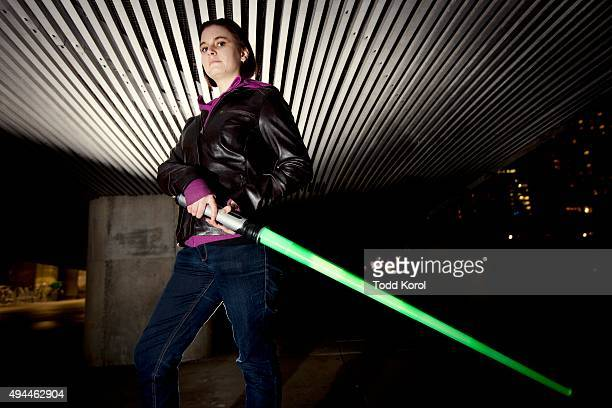 Jess Morton during the largest lightsaber fight in the history of Toronto Ontario Toronto Star/Todd Korol Todd Korol/Toronto Star