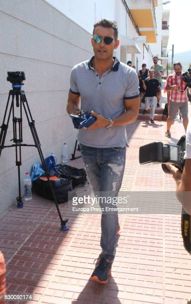 Jesús Vázquez attends the funeral chapel for former motorcycling world champion Angel Nieto at Tanatorio de Ibiza on August 4 2017 in Ibiza Spain