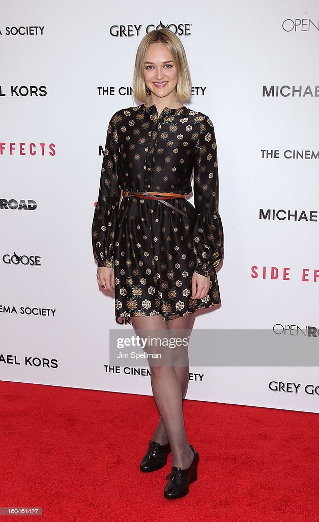 Jess Weixler attends the Open Road With The Cinema Society And Michael Kors Host The Premiere Of 'Side Effects' at AMC Lincoln Square Theater on January 31, 2013 in New York City.