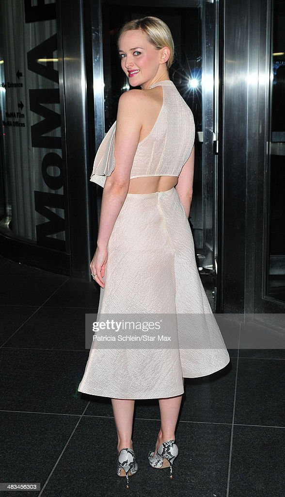Jess Weixler is seen on April 8, 2014 in New York City.