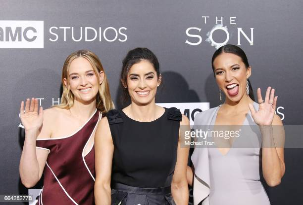 Jess Weixler Paola Nunez and Elizabeth Frances arrive at the Los Angeles premiere of AMC's 'The Son' held at ArcLight Hollywood on April 3 2017 in...