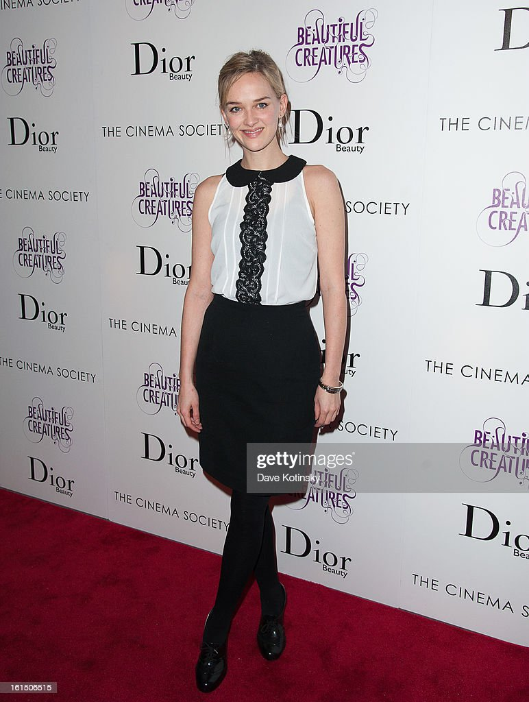 Jess Wexler attends The Cinema Society And Dior Beauty Presents A Screening Of 'Beautiful Creatures' at Tribeca Cinemas on February 11, 2013 in New York City.