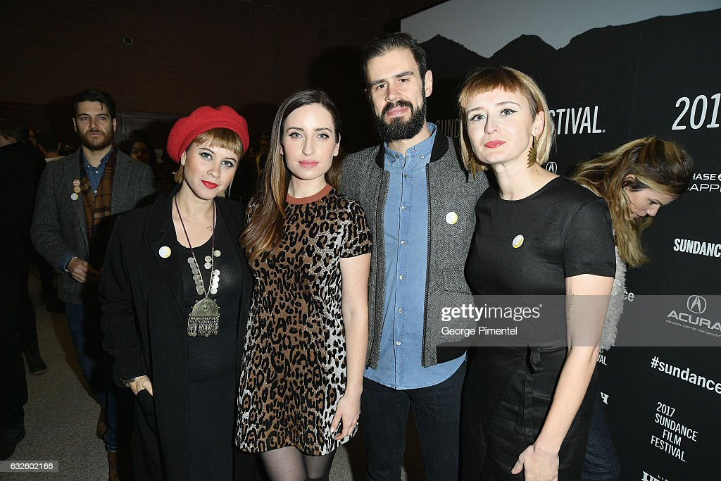 Jess Wolfe, Zoe Lister-Jones, Dan Molad and Holly Laessig attend the 'Band Aid' Premiere at Eccles Center Theatre on January 24, 2017 in Park City, Utah.