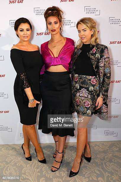 Jess Wright Ferne McCann and Lydia Bright attend the annual British Takeaway Awards in association with Just Eat at the Savoy Hotel in London The...