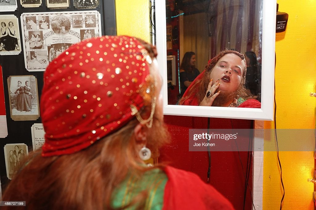 Jessa 'The Bearded Lady' poses for a photo duing AMC's 'Freakshow' Cast Meet And Greet on May 7 2014 in Venice California