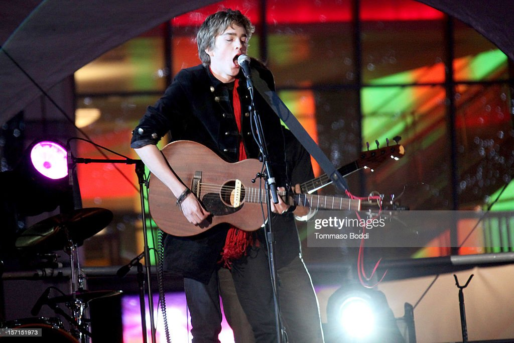 Jessarae performs at the 5th annual Holiday Tree Lighting at L.A. LIVE & opening of LA Kings Holiday Ice held at Nokia Plaza L.A. LIVE on November 28, 2012 in Los Angeles, California.