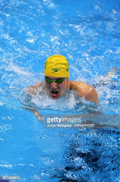 Jesse Aungles of Australia competes in the Men's 200m IM SM8 Final on day 10 of the Rio 2016 Paralympic Games at Olympic Aquatics Stadium on...
