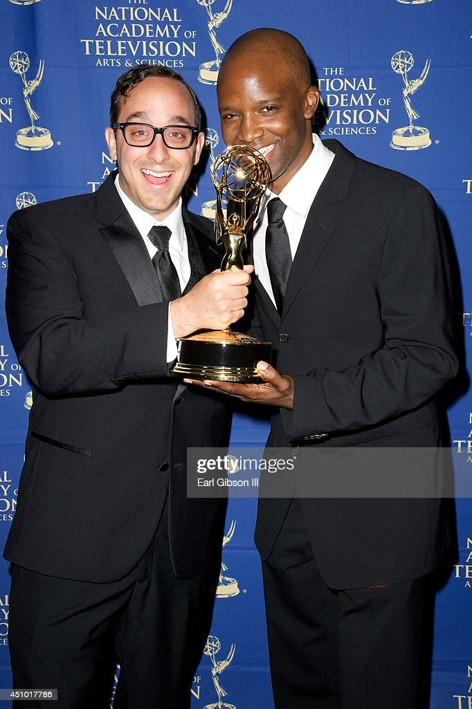 Jesse Avezna and Todd James attend the Daytime Creative Arts Emmy Awards Gala at the Westin Bonaventure Hotel on June 20, 2014 in Los Angeles, California.