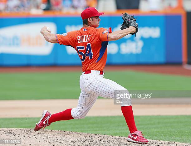 Jesse Biddle of the United States delivers a pitch against the World Team on July 14 2013 at Citi Field in the Flushing neighborhood of the Queens...