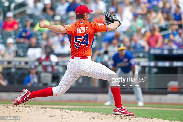 Jesse Biddle of the United States pitches during the game on July 14 2013 at Citi Field in the Flushing neighborhood of the Queens borough of New...
