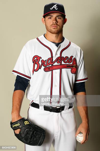 Jesse Biddle poses for a portrait during Atlanta Braves Photo Day at Champion Stadium on February 21 2017 in Lake Buena Vista Florida