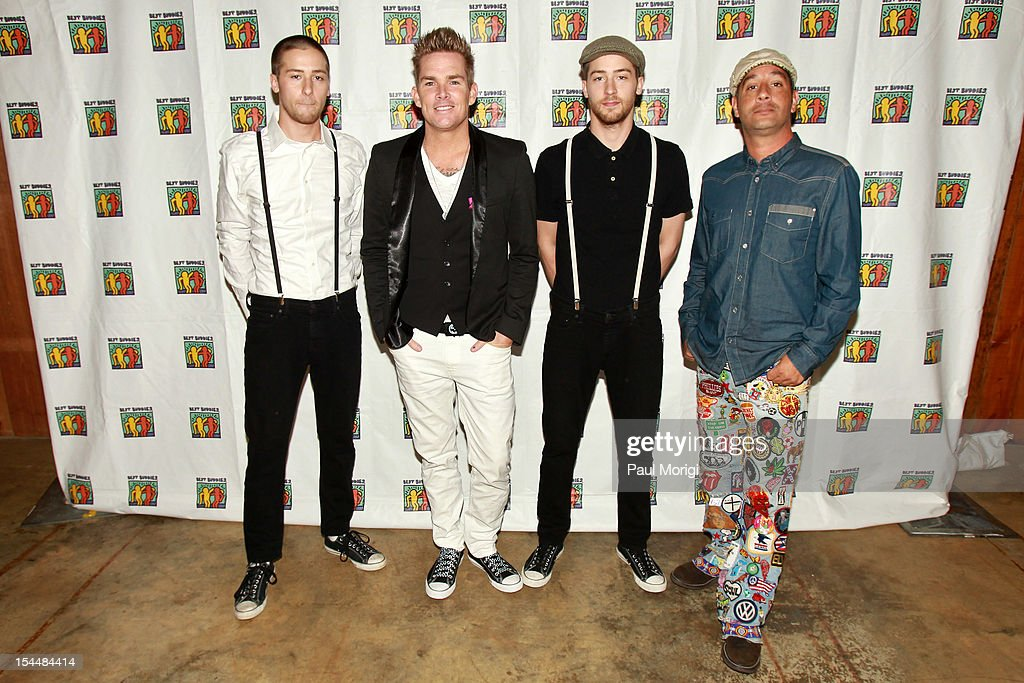 Jesse Bivona, <a gi-track='captionPersonalityLinkClicked' href=/galleries/search?phrase=Mark+McGrath+-+Singer&family=editorial&specificpeople=171653 ng-click='$event.stopPropagation()'>Mark McGrath</a>, Justin Bivona and <a gi-track='captionPersonalityLinkClicked' href=/galleries/search?phrase=Rodney+Sheppard&family=editorial&specificpeople=234550 ng-click='$event.stopPropagation()'>Rodney Sheppard</a> of Sugar Ray attend the Audi Best Buddies Challenge: Washington, D.C. on October 20, 2012 in Washington, DC.