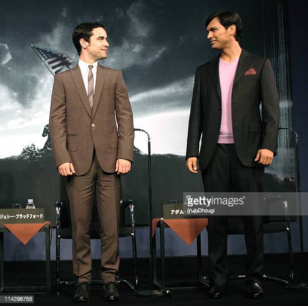 Jesse Bradford and Adam Beach during 'Flags of Our Fathers' Tokyo Press Conference at Roppongi Academy Hills in Tokyo Japan