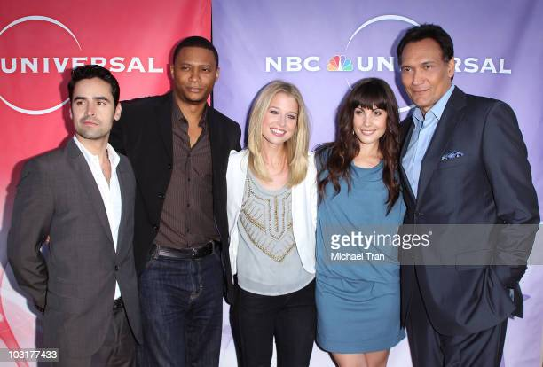 Jesse Bradford David Ramsey Ellen Woglom Carly Pope and Jimmy Smits arrive to the NBC Universal Press Tour AllStar Party held at The Beverly Hilton...