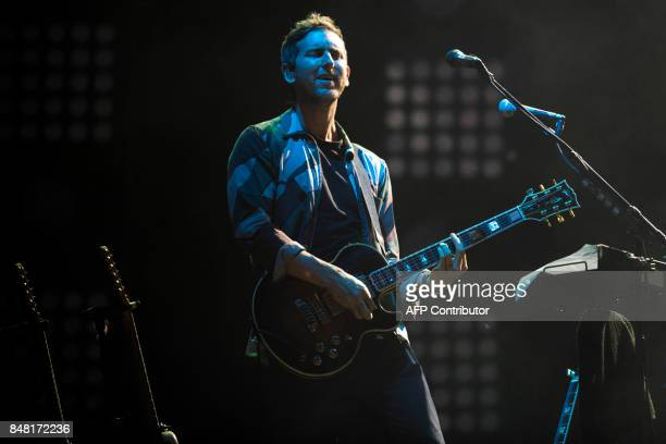 Jesse Carmichael of the American band Maroon 5 performs during the Rock In Rio Festival at the Olympic Park in Rio de Janeiro Brazil on September 16...
