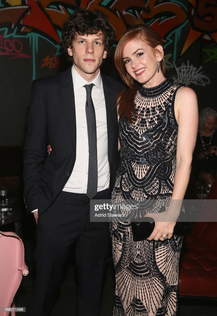 <a gi-track='captionPersonalityLinkClicked' href=/galleries/search?phrase=Jesse+Eisenberg&family=editorial&specificpeople=625439 ng-click='$event.stopPropagation()'>Jesse Eisenberg</a> and <a gi-track='captionPersonalityLinkClicked' href=/galleries/search?phrase=Isla+Fisher&family=editorial&specificpeople=220257 ng-click='$event.stopPropagation()'>Isla Fisher</a> attend the 'Now You See Me' New York Premiere after party at Good Units at Hudson Hotel on May 21, 2013 in New York City.