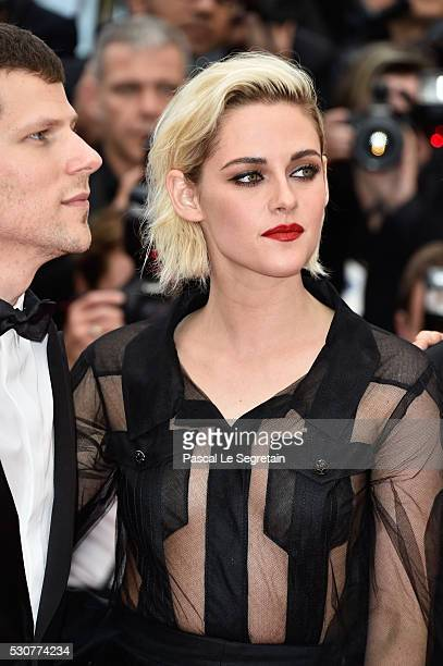 Jesse Eisenberg and Kristen Stewart attend the 'Cafe Society' premiere and the Opening Night Gala during the 69th annual Cannes Film Festival at the...