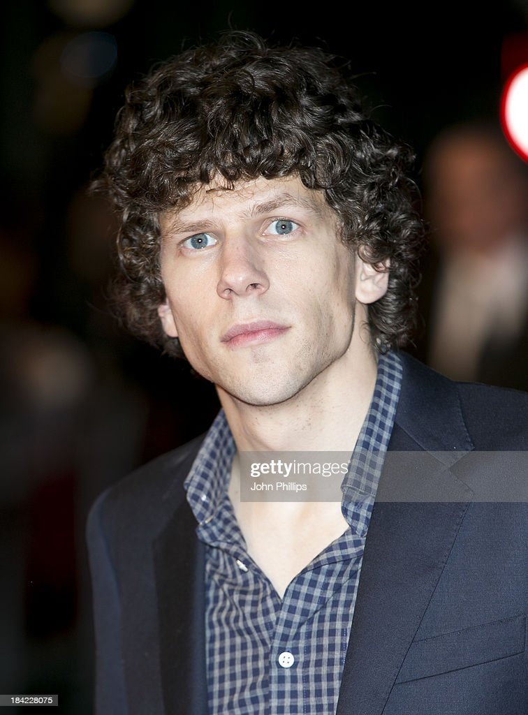 <a gi-track='captionPersonalityLinkClicked' href=/galleries/search?phrase=Jesse+Eisenberg&family=editorial&specificpeople=625439 ng-click='$event.stopPropagation()'>Jesse Eisenberg</a> attends a screening of 'The Double' during the 57th BFI London Film Festival at Odeon West End on October 12, 2013 in London, England.