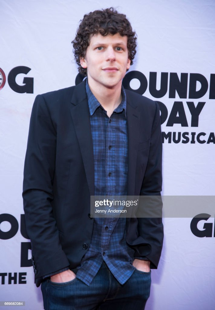 Jesse Eisenberg attends 'Groundhog Day' opening night at August Wilson Theatre on April 17, 2017 in New York City.