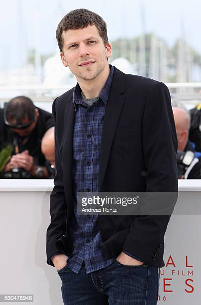 Jesse Eisenberg attends the 'Cafe Society' Photocall during The 69th Annual Cannes Film Festival on May 11 2016 in Cannes France