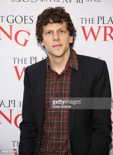 Jesse Eisenberg attends 'The Play That Goes Wrong' Broadway Opening Night at the Lyceum Theatre on April 2 2017 in New York City