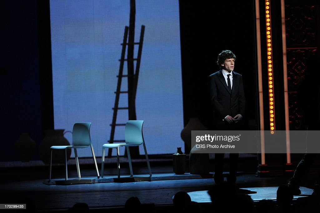 Jesse Eisenberg during THE 67TH ANNUAL TONY AWARDS broadcast live from Radio City Music Hall in New York City, Sunday, June 9 (8:00-11:00 PM, live ET/delayed PT) on the CBS Television Network.