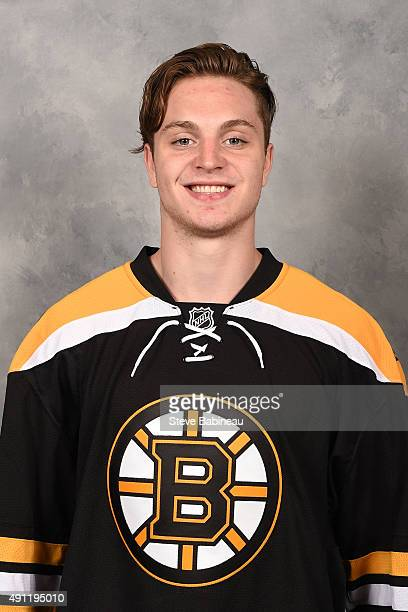 Jesse Gabrielle of the Boston Bruins poses for his official headshot for the 20152016 season on September 18 2015 at the TD Garden in Boston...
