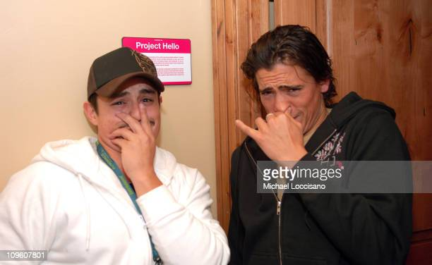 Jesse Garcia and Andrew Keegan in Fuel TV Chalet during Fuel TV Chalet at Sundance and XDance 2006 Day 7 at Woodside in Park City Utah United States