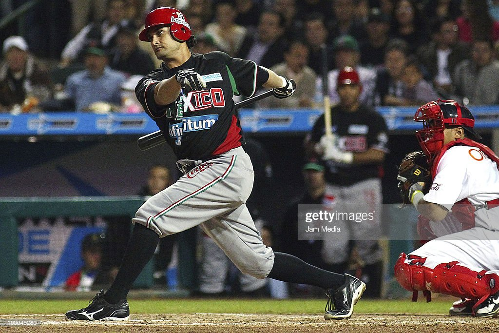 Jesse Gutierrez of Mexico in action during the Caribbean Series Baseball 2013 in Sonora Stadium on February 2, 2013 in Hermosillo, Mexico.