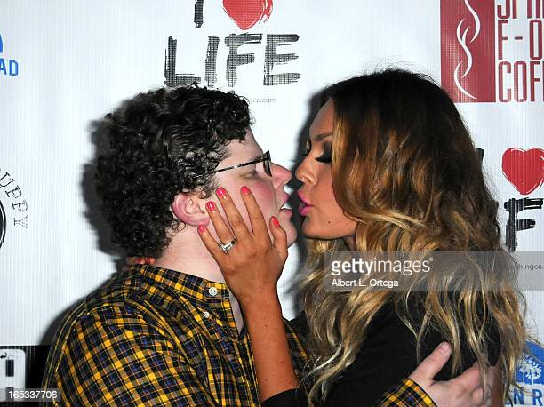 Jesse Heiman Jasmine Dustin arrives for the No Kill LA Charity Event held at Fred Segal on April 2 2013 in West Hollywood California