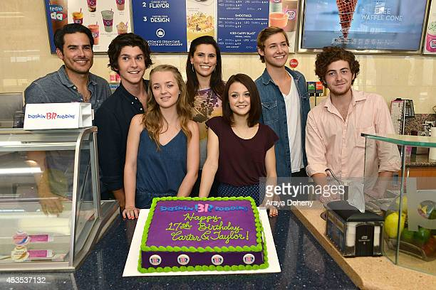 Jesse Henderson Eddie Matos Anna JacobyHeron Milena Govich Kathryn Prescott Caleb Ruminer and Jesse Carere attend MTV's 'Finding Carter' fan event...