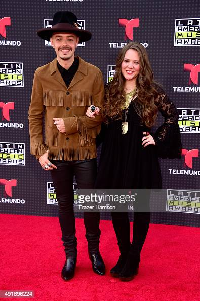 Jesse Huerta and Joy Huerta of Jesse Joy attend Telemundo's Latin American Music Awards at the Dolby Theatre on October 8 2015 in Hollywood California
