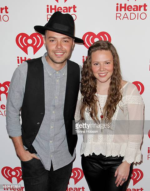 Jesse Huerta and Joy Huerta of Jesse Joy attend the iHeartRadio fiesta Latina music festival at The Forum on November 22 2014 in Inglewood California
