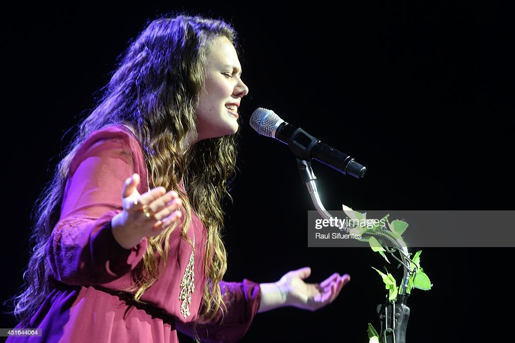 <a gi-track='captionPersonalityLinkClicked' href=/galleries/search?phrase=Jesse+Huerta&family=editorial&specificpeople=6343572 ng-click='$event.stopPropagation()'>Jesse Huerta</a> of Jesse & Joy perform onstage during the Latin GRAMMY Acoustic Session at Museo Pedro de Osma on July 2, 2014 in Lima, Peru.