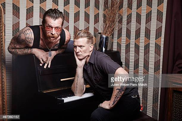 Jesse Hughes and Josh Homme of Eagles of Death Metal are photographed for Paris Match on June 9 2015 in Paris France