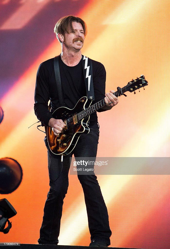 Jesse Hughes of Eagles of Death Metal performs during the Quebec Festival D'ete on July 6, 2013 in Quebec City, Canada.
